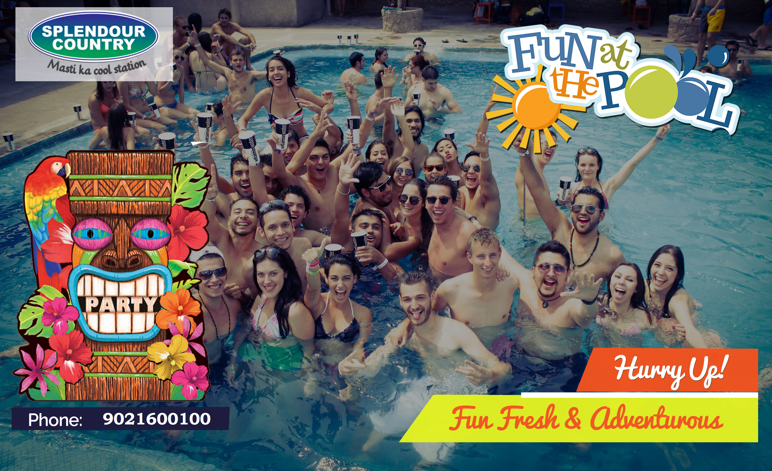 Pune events- Hawaiian themed Pool Party at one of the best one day picnic spot- Splendor Country