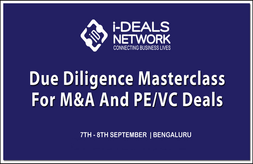 Due Diligence Masterclass for PE and M&A Deals - 7th - 8th September, Bengaluru