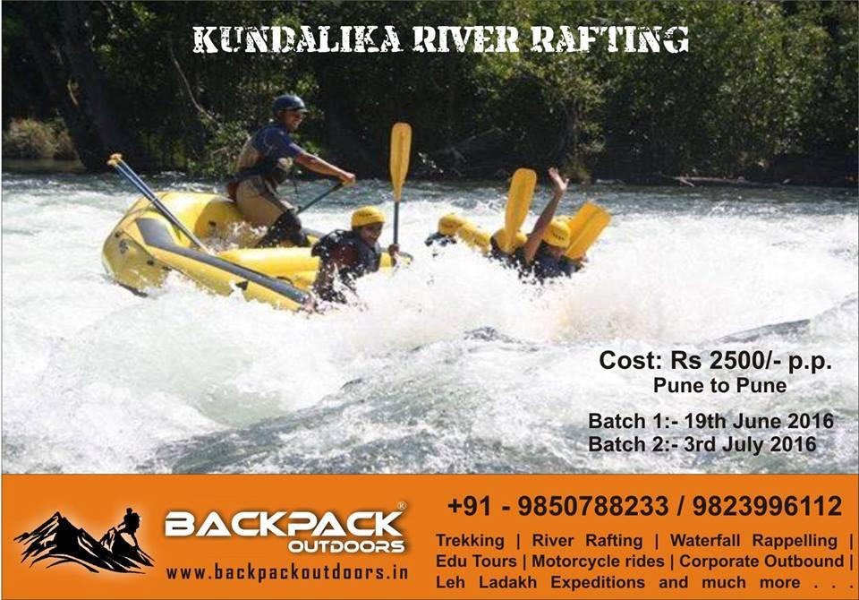 Backpack: Kundalika River Rafting Batch 1