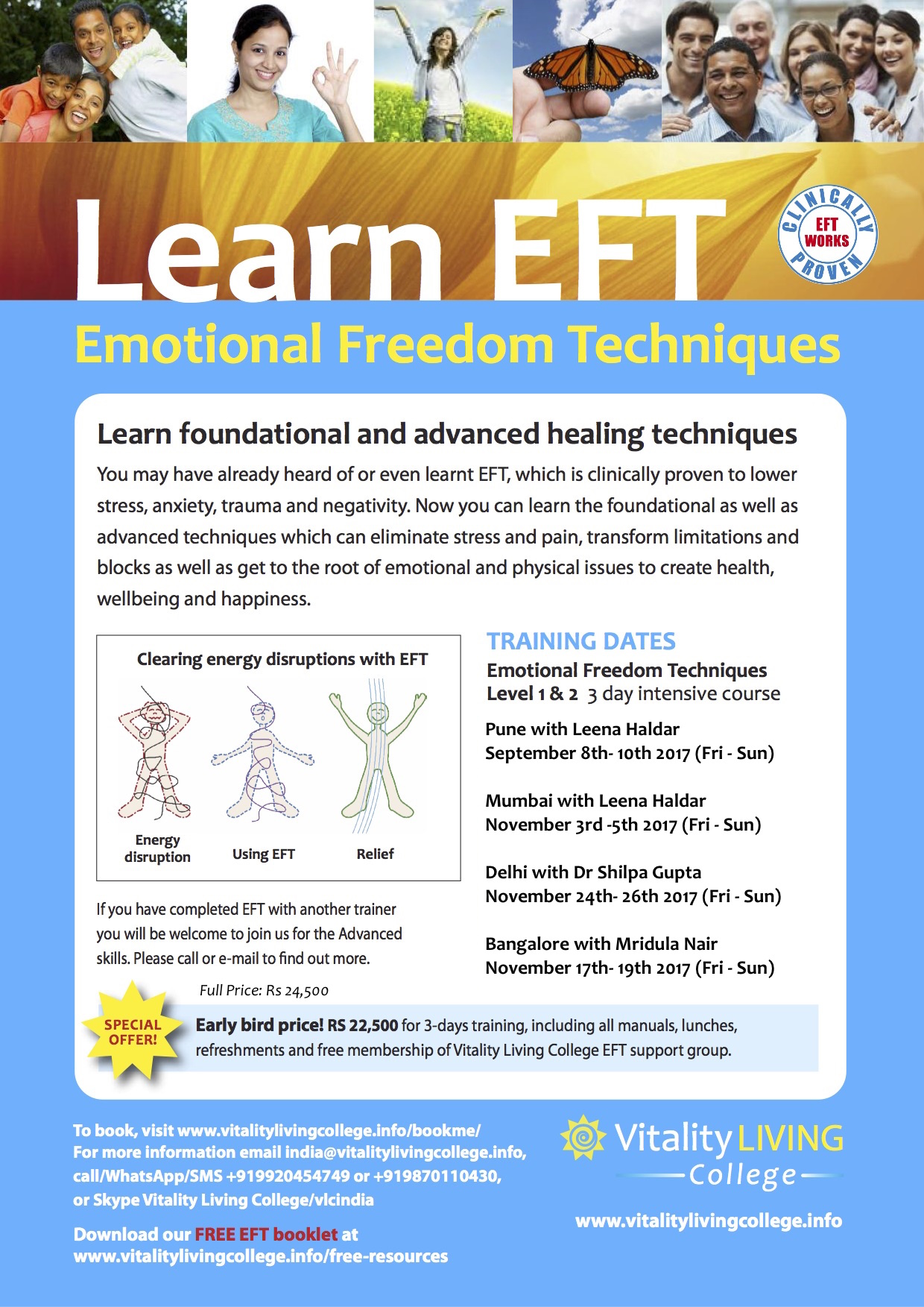 Emotional Freedom Techniques (EFT) Practitioner Training, Mumbai November 2017 with Vitality Living College Trainer Leena Haldar