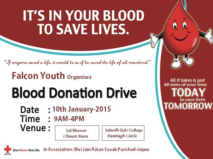 Blood Donation Camp in Jaipur Dec'15