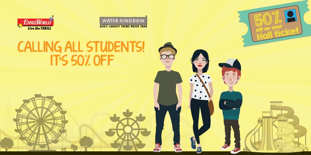 EsselWorld and Water Kingdom announce a hall ticket bonanza for  HSC and SSC students