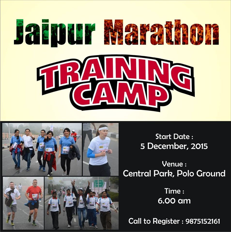 Jaipur Marathon - Training Camp