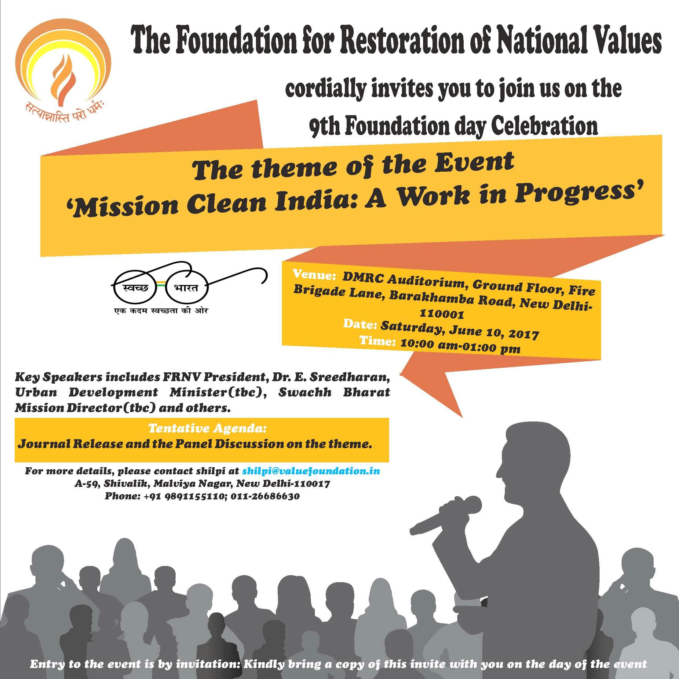 FRNV's 9th Foundation day