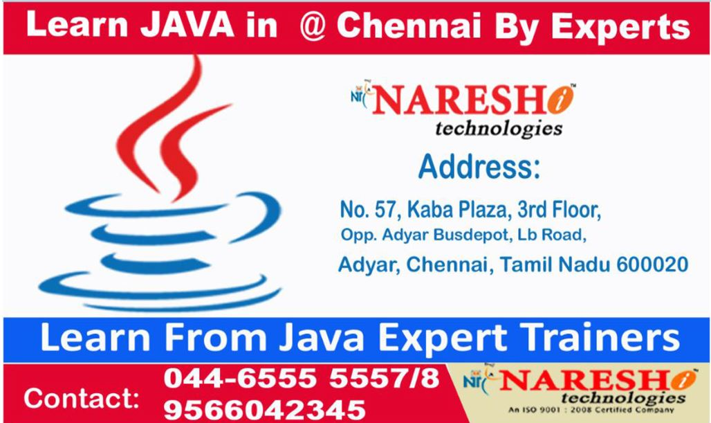 Java Training in Chennai-Java Training institute in Adyar