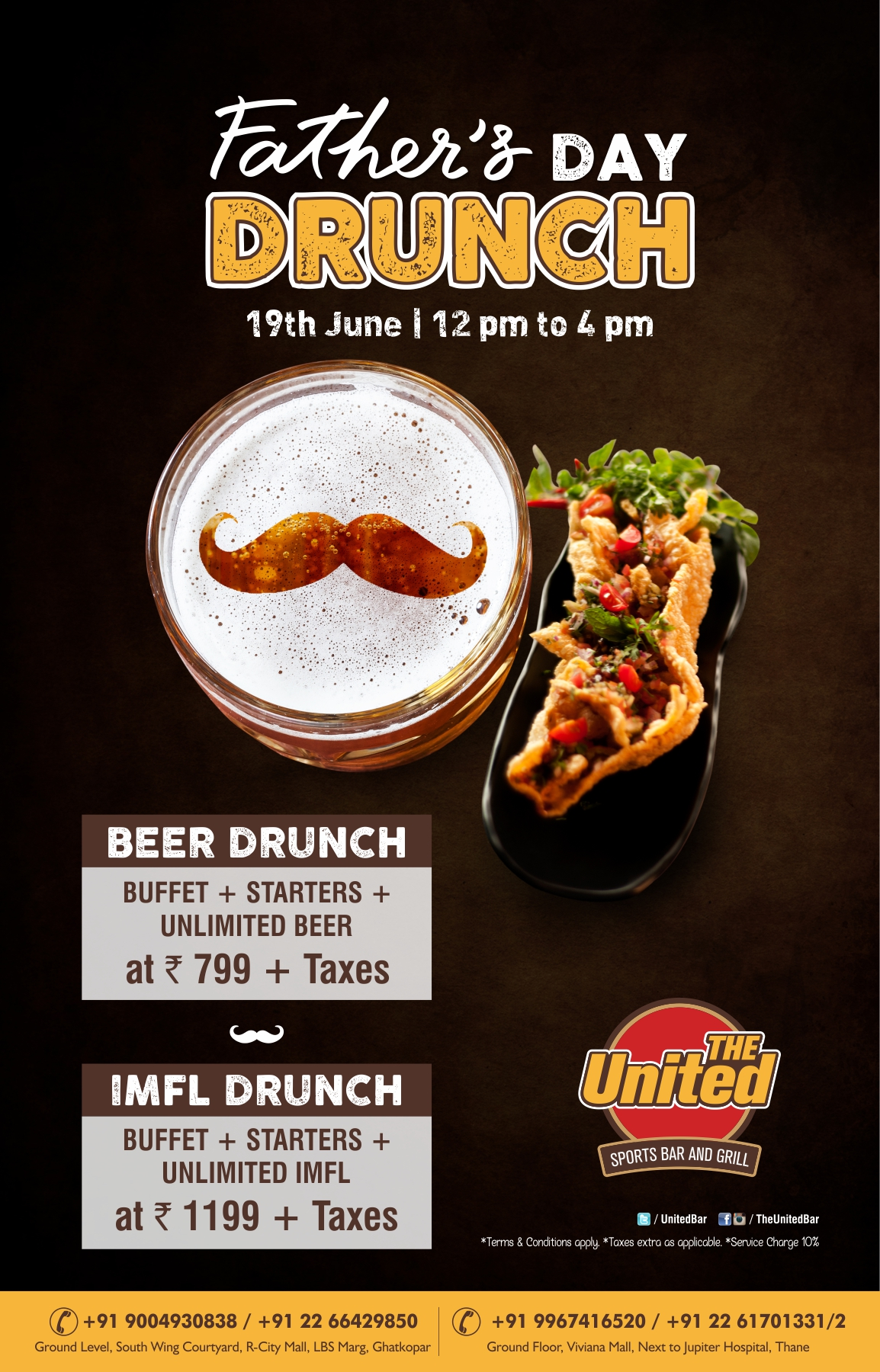 Get drunched this Father's Day at United