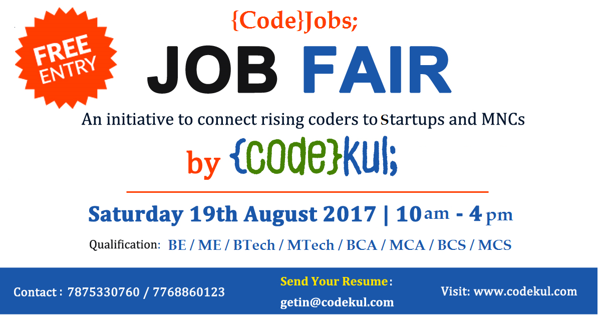 CodeJobs JobFair at {code}kul;