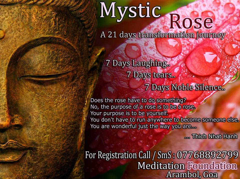 21 Days - Mystic Rose Meditation in Goa [FREE of cost] - LIMITED SEATS