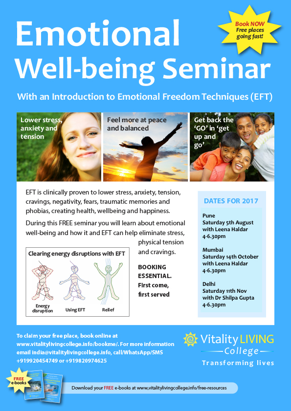 Emotional Wellbeing Seminar with an Introduction to Emotional Freedom Techniques (EFT) Mumbai