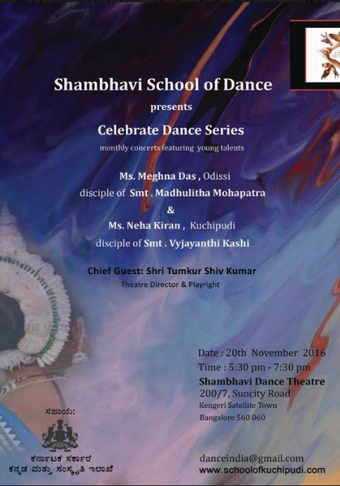 Shambhavi School of Dance - Celebrate Dance Series Nov 2016