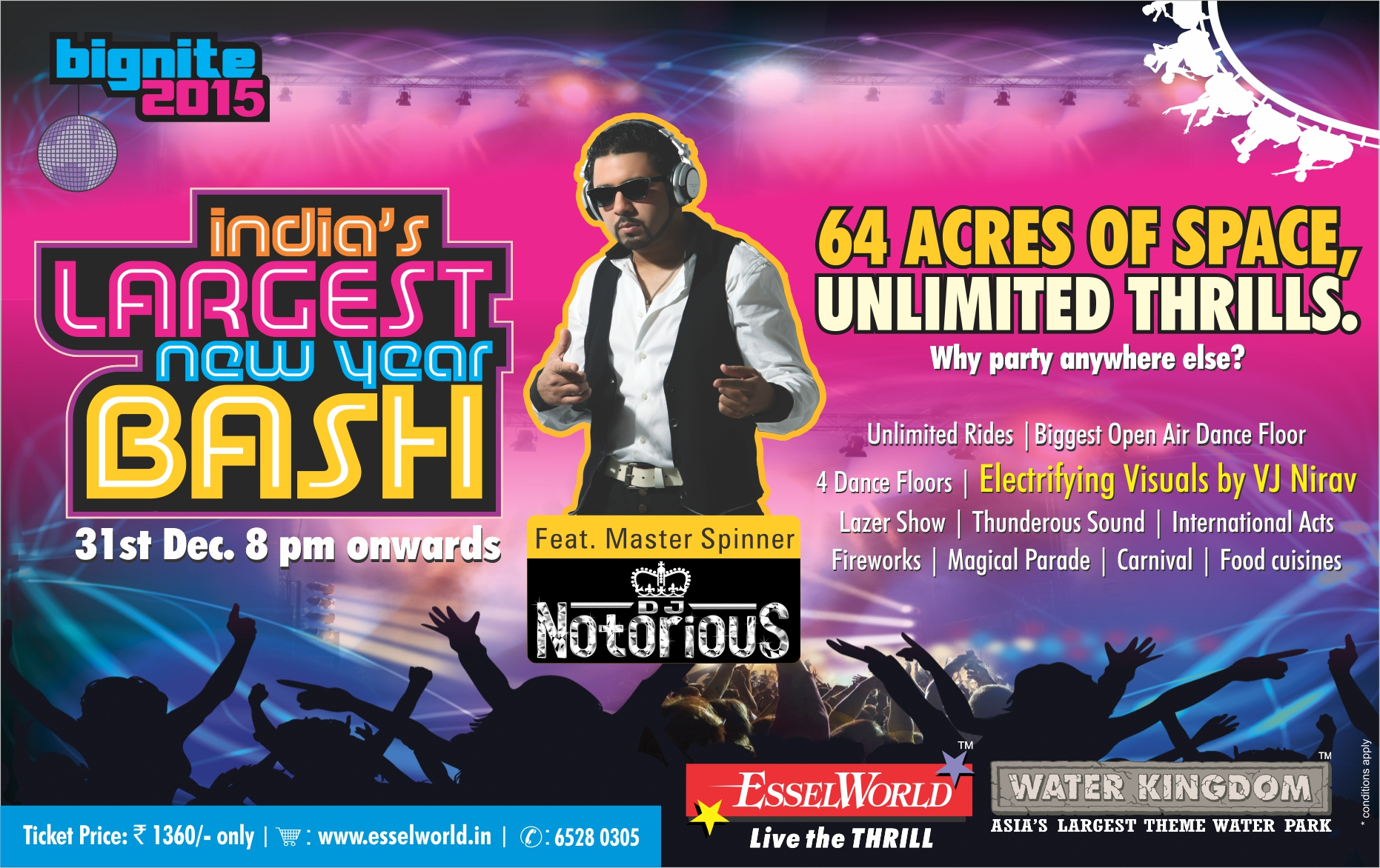 "India's largest new year bash ""Bignite 2015"