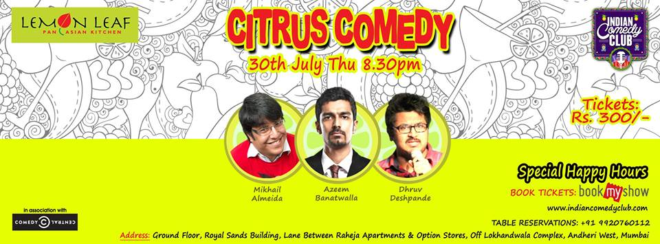 Citrus Comedy at Lemon Leaf, Andheri (W)