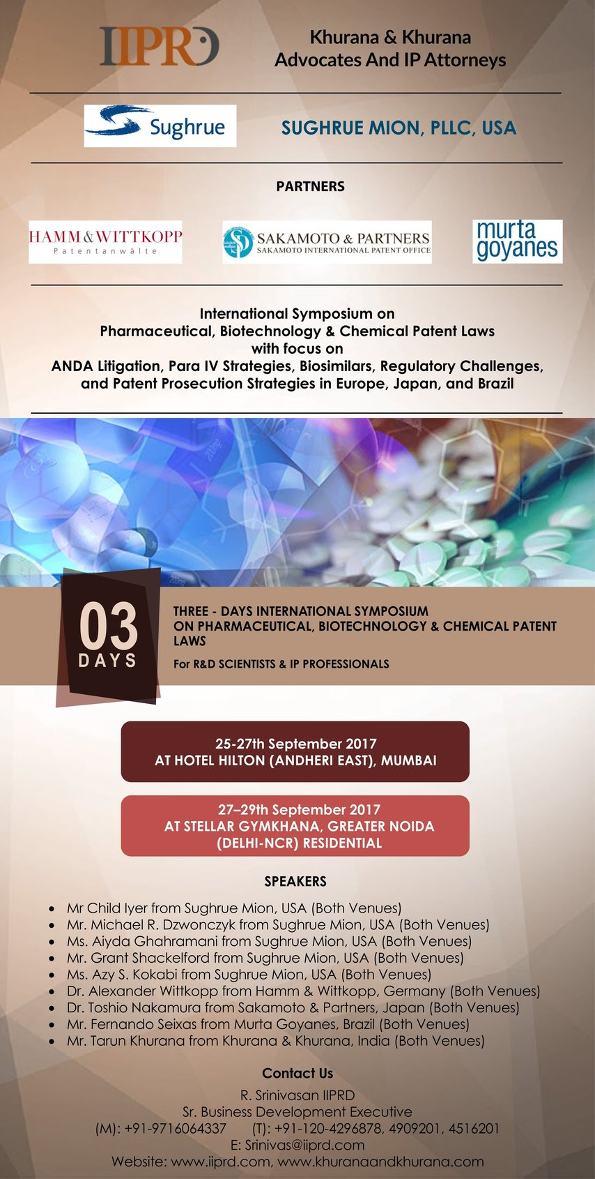 Symposium On Pharmaceutical, Biotechnology, And Chemical Patent Laws