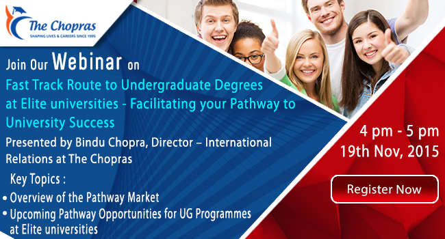 Webinar to Introduce Fast Track Route to UK Degrees