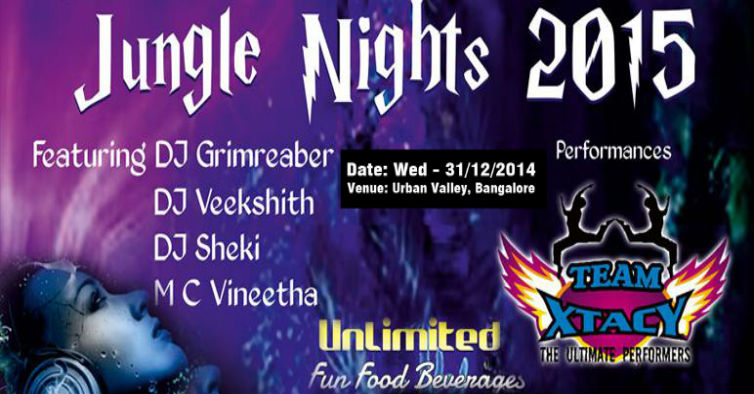 Jungle Nights New Year Eve2015 in bangalore|Buy Tickets online
