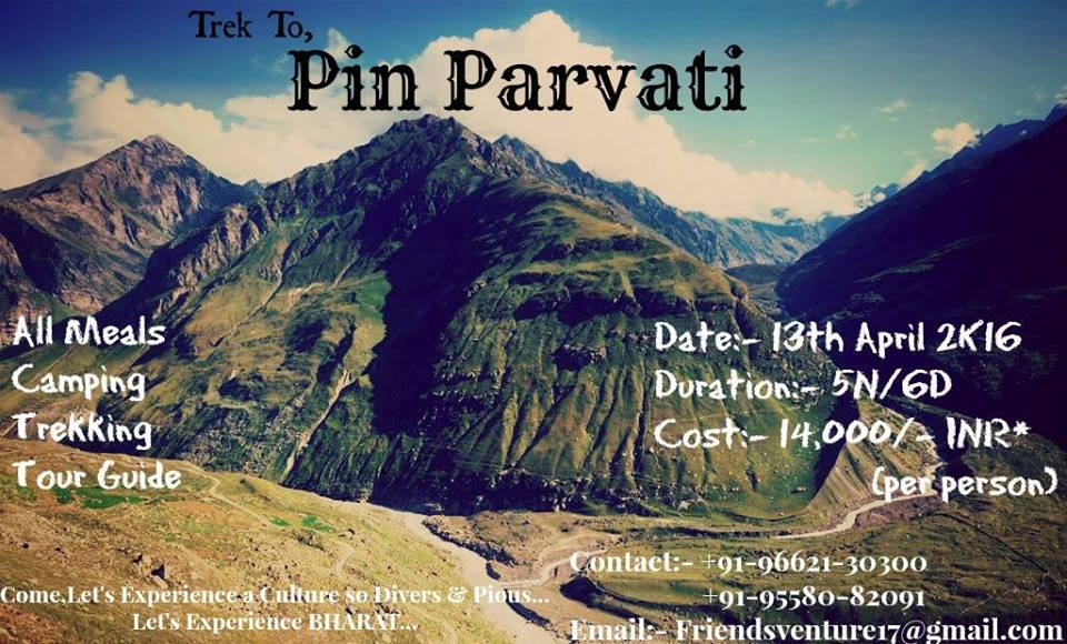 PIN-PARVATI VALLEY Trekking Expedition