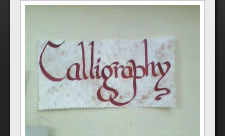 Calligraphy writing workshop