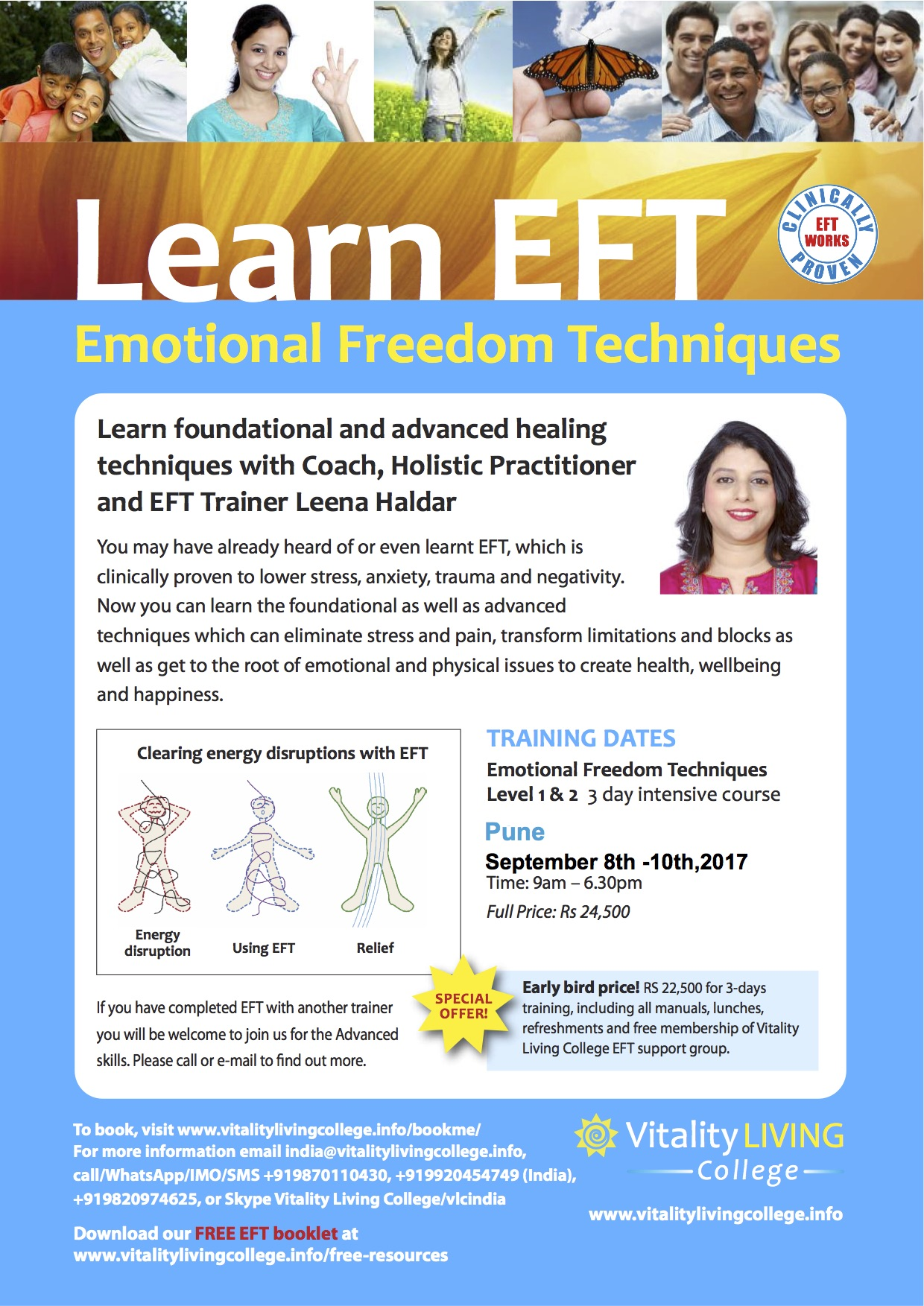 Emotional Freedom Techniques (EFT) Pune September 2017