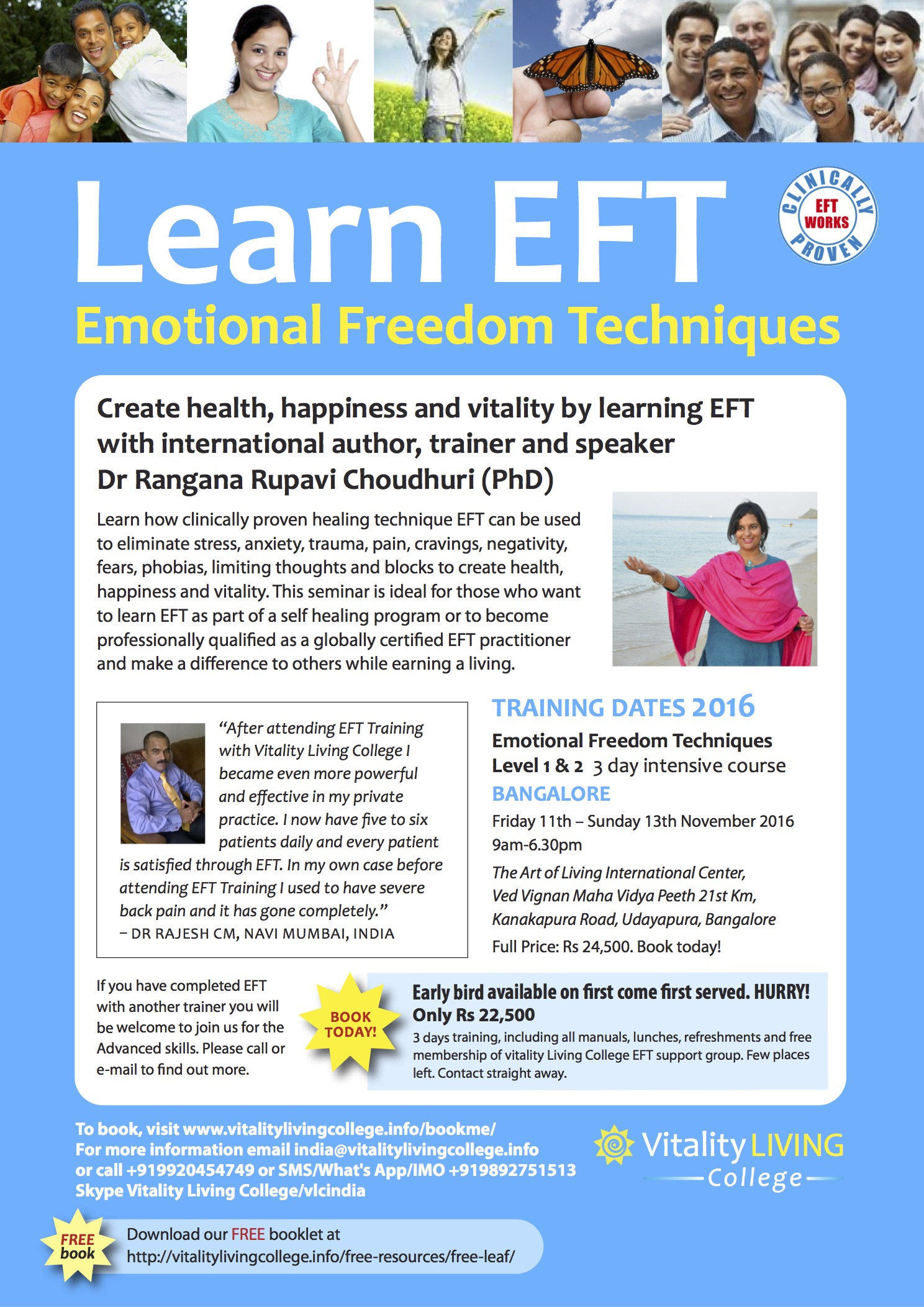 Emotional Freedom Techniques (EFT) Bangalore November 2016 with Dr Rangana Rupavi Choudhuri