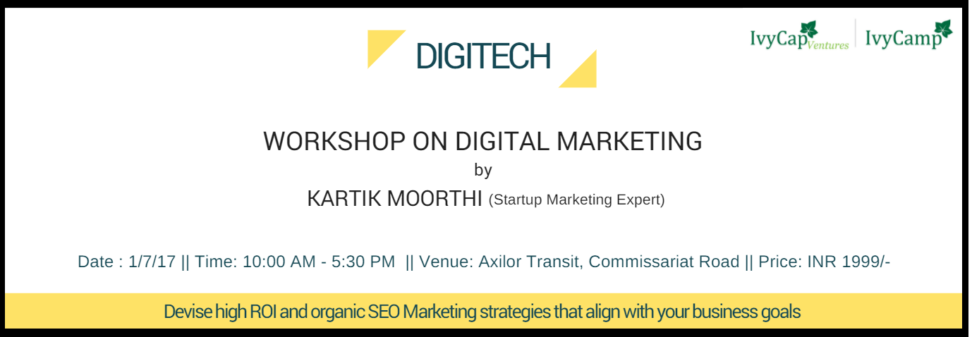 Digital Marketing Workshop for Startups –