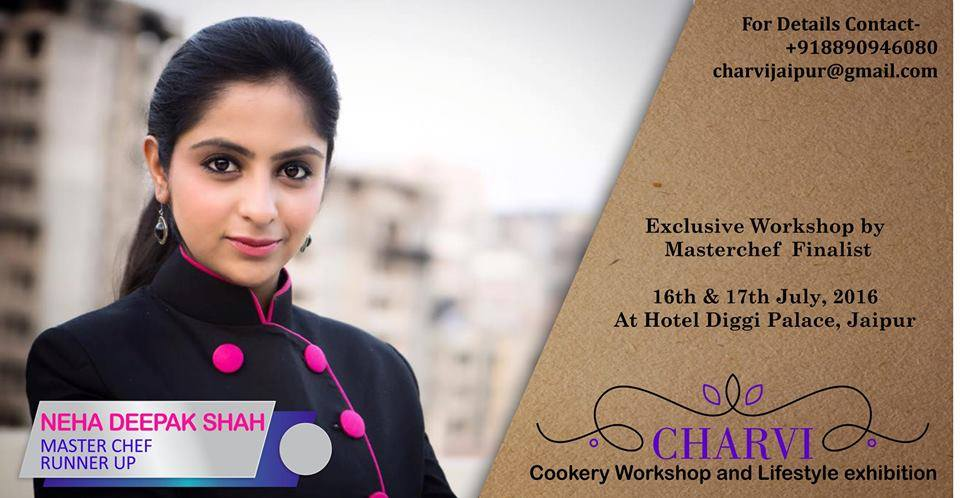 Workshop by Neha Deepak Shah (modern indian fusion)