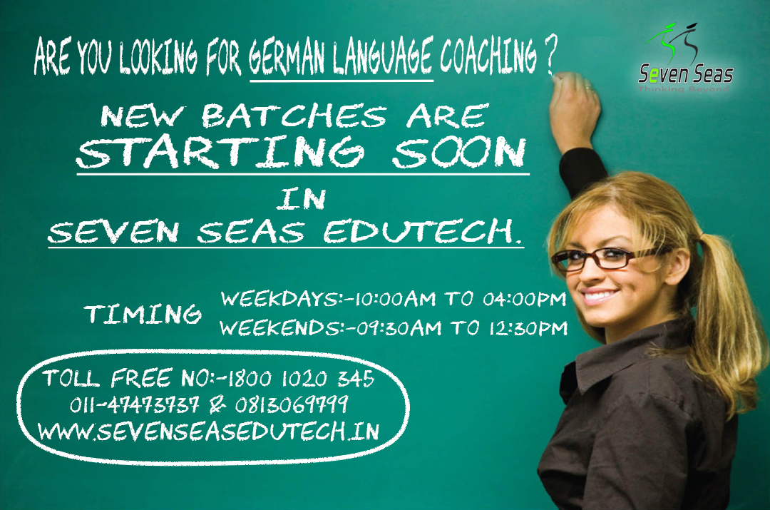 Weekend German Language Coaching Classes in Delhi at Sevenseas Edutech
