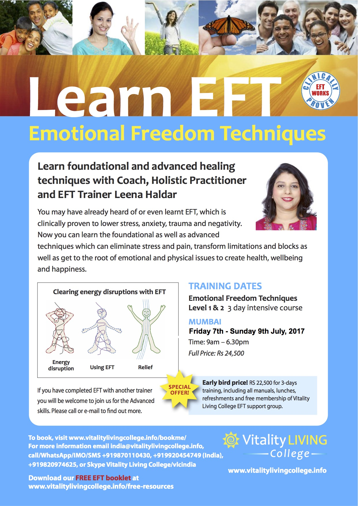 Emotional Freedom Techniques (EFT) Mumbai July 2017