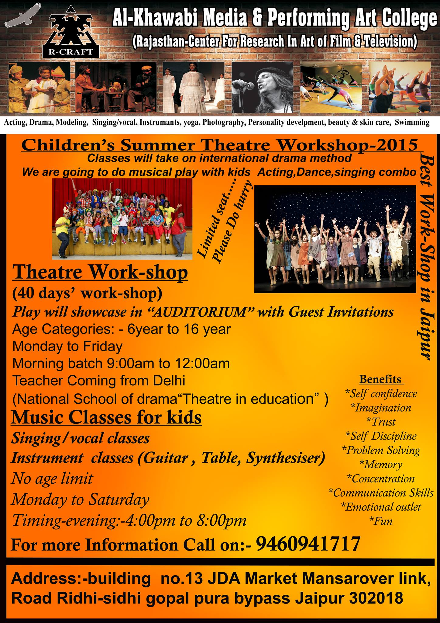 Kids theatre workshop in Jaipur