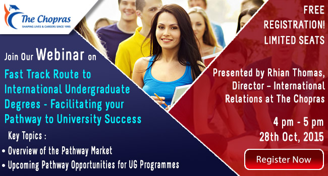 "Attend Upcoming Webinar on ""Fast Track to UK Undergrad Degrees"""