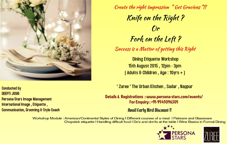 Dining Etiquette Workshop - Nagpur